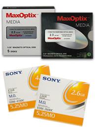 MaxOptix media - MO disks